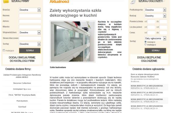 Słowni, Słowni.pl, aranzacja wnetrz