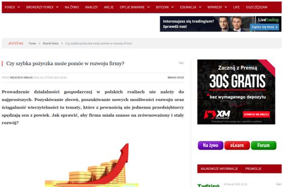 Słowni, Słowni.pl, finanse i ubezpieczenia